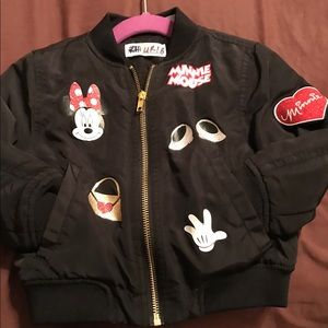 H & M Minnie Mouse Toddler Girls Bomber Jacket.